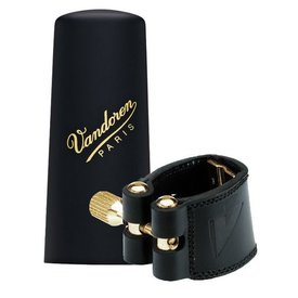 Vandoren Vandoren Leather Ligature & Plastic Cap for Soprano Sax; Inc 3 Pressure Plates