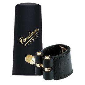 Vandoren Vandoren Leather Ligature & Plastic Cap for V16 Baritone Sax; 3 Interchangeable Pressure Plates