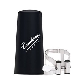 Vandoren Vandoren M|O Ligature and Plastic Cap for Alto Clarinet; Pewter Finish
