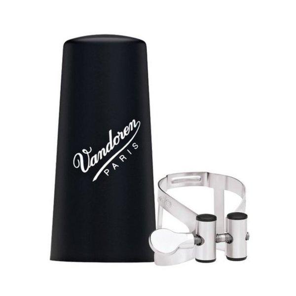 Vandoren Vandoren M O Ligature and Plastic Cap for Alto Clarinet; Pewter Finish
