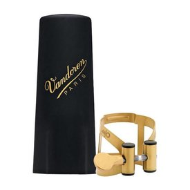 Vandoren Vandoren M|O Ligature and Plastic Cap for Alto Saxophone; Aged Gold Finish