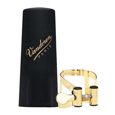 Vandoren M|O Ligature and Plastic Cap for Alto Saxophone; Gilded Finish