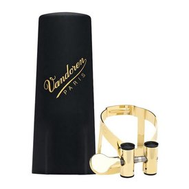 Vandoren Vandoren M|O Ligature and Plastic Cap for Alto Saxophone; Gold Plated Plated