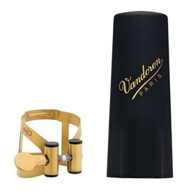 Vandoren Vandoren M|O Ligature and Plastic Cap for Baritone Saxophone; Aged Gold Finish