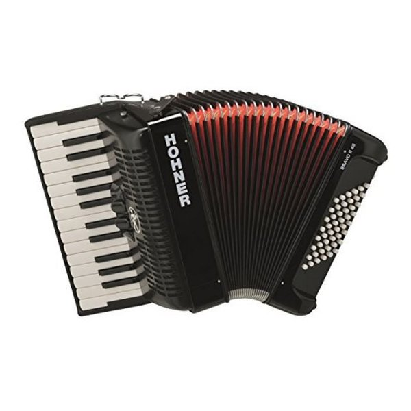 Hohner Hohner BR48R-N Bravo III Accordion 72 Jet Black
