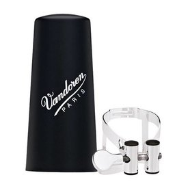 Vandoren Vandoren M|O Ligature and Plastic Cap for Bb Clarinet; Silver Plated