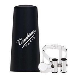 Vandoren Vandoren M|O Ligature and Plastic Cap for Eb Clarinet; Silver Plated