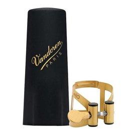 Vandoren Vandoren M|O Ligature and Plastic Cap for Tenor Saxophone; Gilded Finish