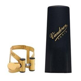 Vandoren Vandoren M O Ligature and Plastic Cap for V16 Baritone Saxophone; Aged Gold