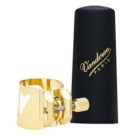Vandoren Vandoren Optimum Ligature & Plastic Cap for Alto Sax Gilded; 3 Interchangeable Pressure Plates