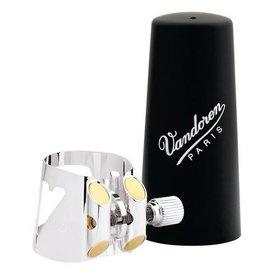 Vandoren Vandoren Optimum Ligature & Plstc Cap for Bb Grmn Clar Slvr-Pltd 3 Interchangeable Pressure Plates