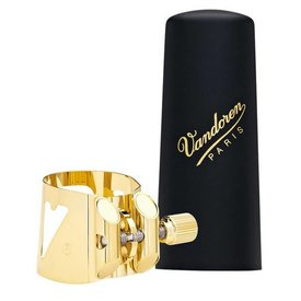 Vandoren Vandoren Optimum Ligature & Plastic Cap for Tenor Sax; Gilded; 3 Interchangeable Pressure Plates