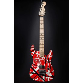 EVH EVH Striped Series Red with Black Stripes