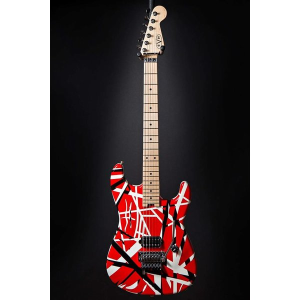 EVH EVH Striped Series Red with Black Stripes