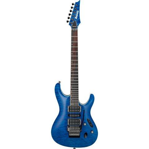 Ibanez S6570QNBL S Prestige 6str Electric Guitar w/Case - Natural Blue