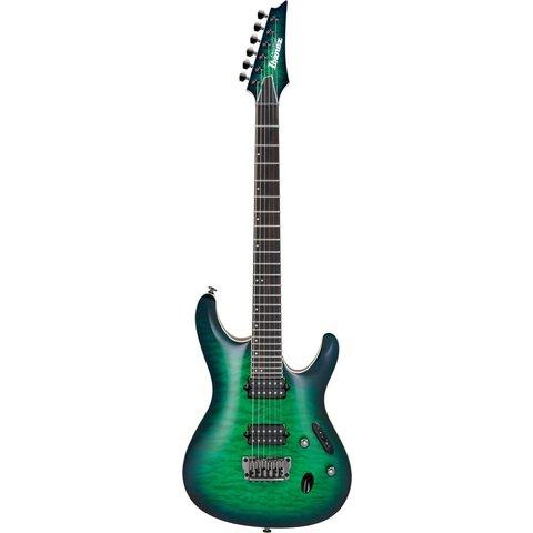 Ibanez S6521QSLG S Prestige 6str Electric Guitar w/Case Surreal Blue Burst Gloss