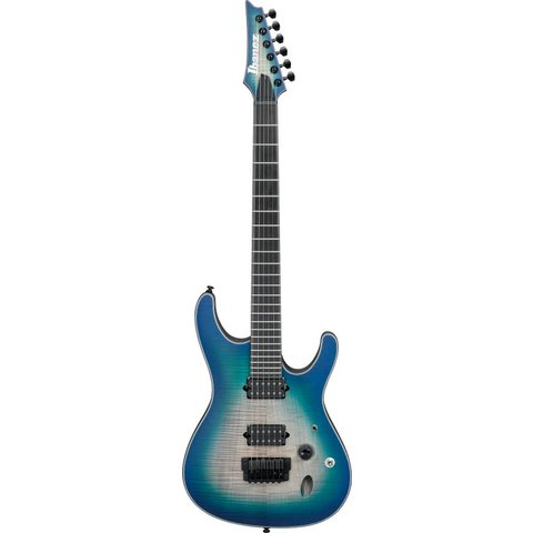 Ibanez SIX6FDFMBCB S Iron Label 6str Electric Guitar - Blue Space Burst