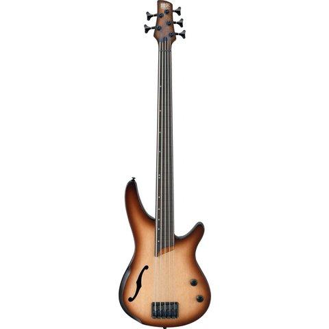 Ibanez SRH505FNNF SR Bass Workshop 5str Electric Fretless Natural Browned Burst