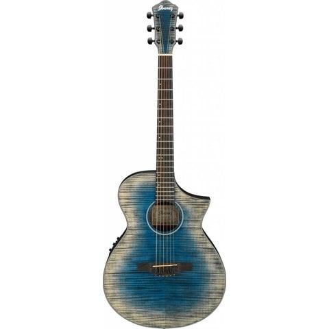 Ibanez AEWC32FMGBL AEW Acoustic Electric Guitar - Glacier Blue Low Gloss