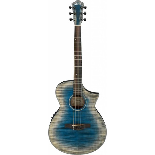 Ibanez Ibanez AEWC32FMGBL AEW Acoustic Electric Guitar - Glacier Blue Low Gloss