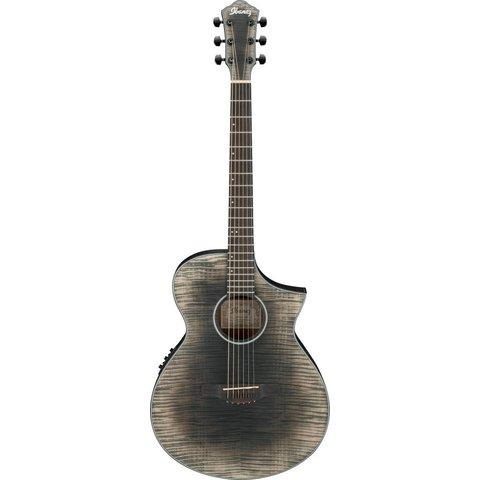 Ibanez AEWC32FMGBK AEW Acoustic Electric Guitar - Glacier Black Low Gloss