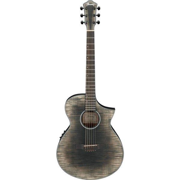 Ibanez Ibanez AEWC32FMGBK AEW Acoustic Electric Guitar - Glacier Black Low Gloss