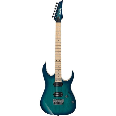 Ibanez RG652AHMFXNGB RG Prestige 6str Electric Guitar w/Case Nebula Green Burst