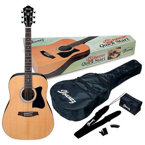 Ibanez IJV50 Acoustic Dreadnought Package