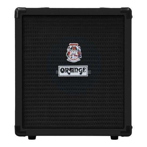 Orange Crush Bass 25 Black 25 watt Active EQ Para Mid 8'' speaker CabSim