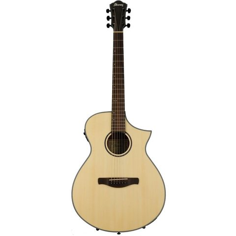 Ibanez AEWC24MBLG AEW Acoustic Electric Guitar - Natural Low Gloss