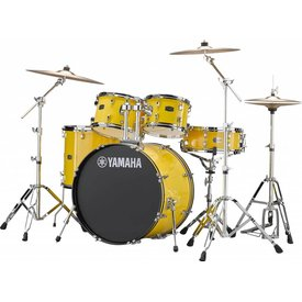 Yamaha Yamaha RDP2F56WWUYL Mellow Yellow Rydeen 5-Pc Drum Set Hw-680W 457 Cym 22'' Bd