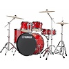 Yamaha RDP2F56WWURD Red Rydeen 5Pc Drum Set Hw-680W 457 Rock Cym 22'' Bd Config