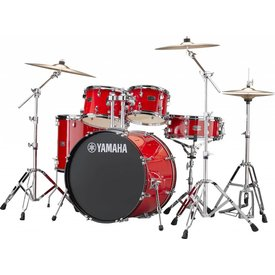 Yamaha Yamaha RDP2F56WWURD Red Rydeen 5Pc Drum Set Hw-680W 457 Rock Cym 22'' Bd Config