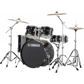 Yamaha Yamaha RDP2F56WWUBLG Black Glitter Rydeen 5Pc Drum Set Hw-680W 457 Rock 22'' Bd