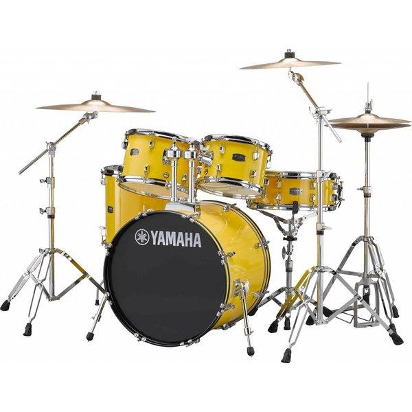 Yamaha Yamaha RDP0F56WWUYL Mellow Yellow Rydeen 5-Pc Set Hw-680W 457 Rock Cym 20'' Bd