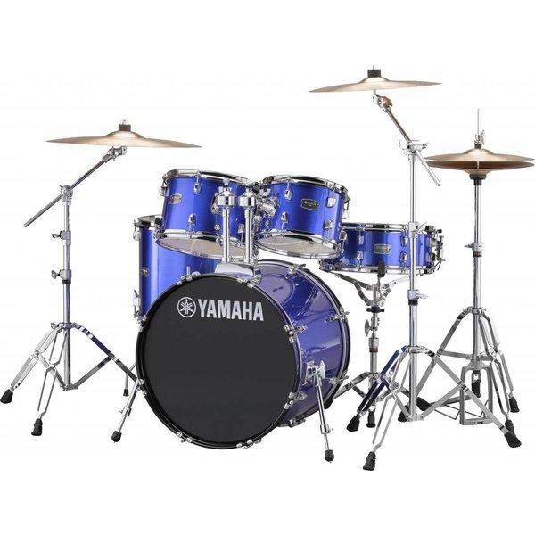 Yamaha Yamaha RDP0F56WWUFB Fine Blue Rydeen 5-Pc Drum Set Hw-680W 475 Rock Cym 20'' Bd