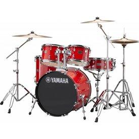 Yamaha Yamaha RDP0F56WRD Hot Red Rydeen 5-Pc Drum Set w/ Hw-680W 20'' Bd Configuration
