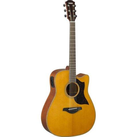 Yamaha A1M VN Folk Cutaway Acoustic Electic Guitar - Mahogany - Vintage Natural