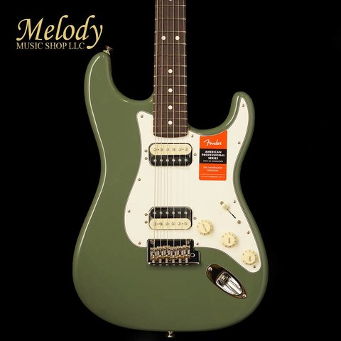 American Pro Stratocaster HH Shawbucker, Rosewood Fingerboard, Antique Olive