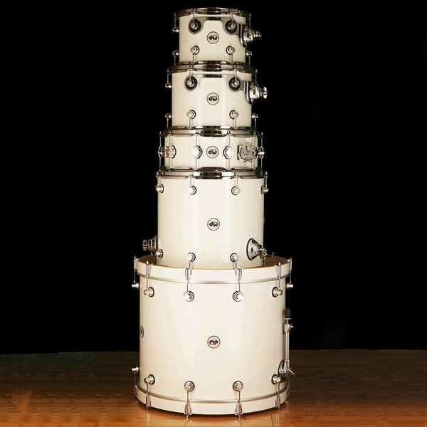 DW DROPSHIP DW Drum Workshop Design Series White Laquer