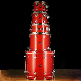 DW DW Drum Workshop Performance Series 4 pc shell pk Candy Apple Laquer 8 x 10 9 x 12 14 x 16 18 x 22