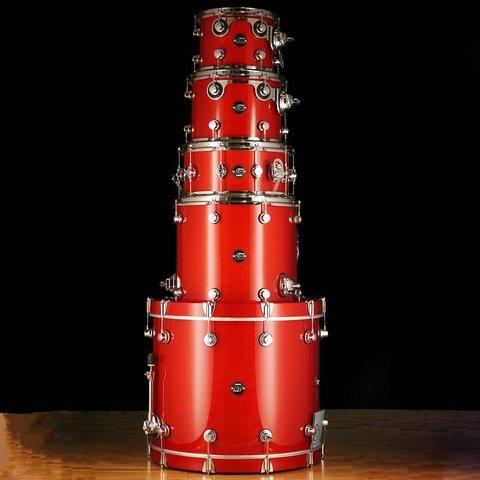DW Drum Workshop Performance Series 4 pc shell pk Candy Apple Laquer 8 x 10 9 x 12 14 x 16 18 x 22