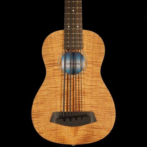 Kala Acoustic/Electric UBASS-EM-FS U-Bass Fretted w/ Bag, Satin/Exotic Mahogany