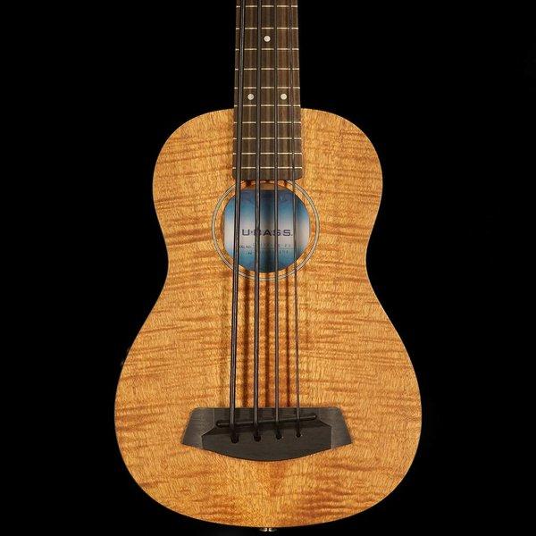 Kala Kala Acoustic/Electric UBASS-EM-FS U-Bass Fretted w/ Bag, Satin/Exotic Mahogany