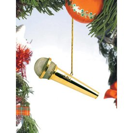 Music Treasures Co. Gold Microphone Ornament