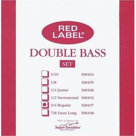 Super Sensitive Super Sensitive Red Label 3/4 Bass String Set