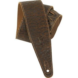 Levy's Leathers Levy's MD317JAD-DBR 2.5'' Cracked Leather Guitar Strap