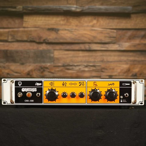 Orange OB1-500 500 W class AB output, single ch, blendable gain chain, solid state, rack mountable.