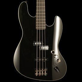 Fender Aerodyne Jazz Bass, Rosewood Stained Fingerboard, Black, No Pickguard