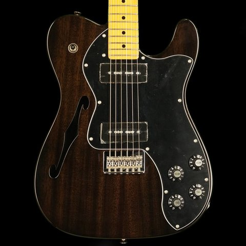 Modern Player Telecaster Thinline Deluxe, Maple Fingerboard, Black Transparent